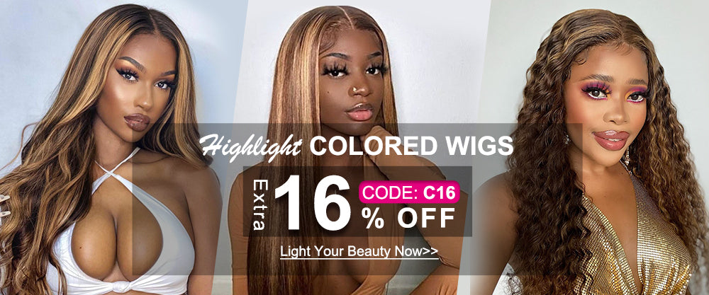 Extra 16% off for colored wigs