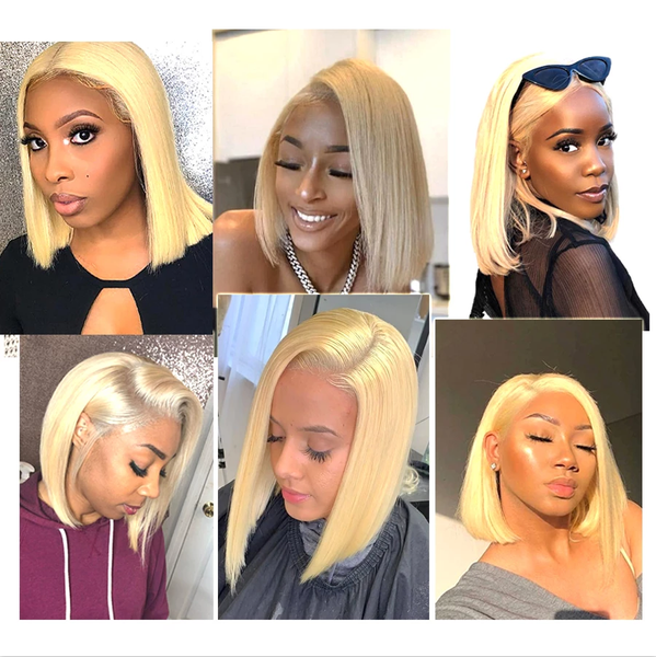 9A Grade 13*4/13*6 613 Blonde Bob Lace Front Wig