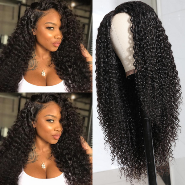 Jerry Curly Pu Silk Base Human Hair Wig