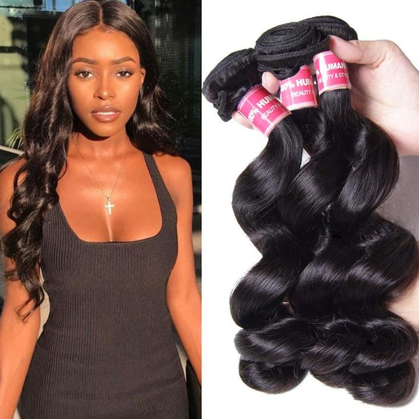 Loose Wave Virgin Hair Weave 3 Bundles