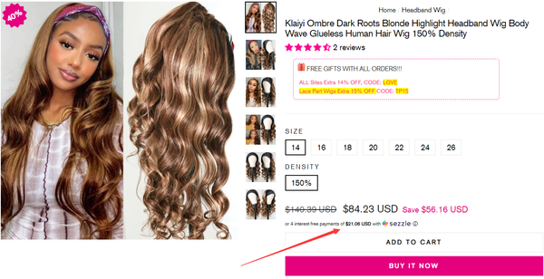 Select the hair wig or hair weave