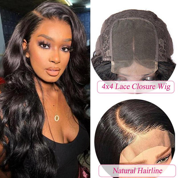 Youth Series 4×4 Body Wave Lace Closure Wigs