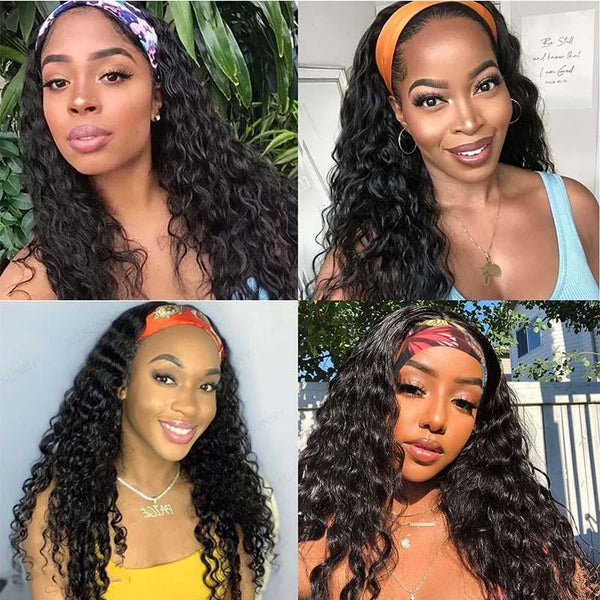 Youth Series Water Wave Headband Wig On Quadpay