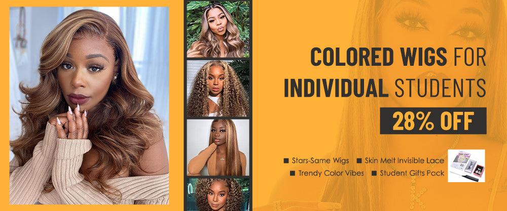 colored wigs for individual students