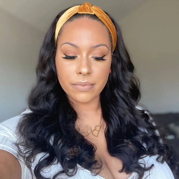 headband wig body wave