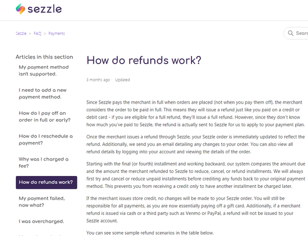 how do refunds work