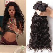 Klaiyi Hair Malaysian Natural Wave Virgin Human Hair Bundles 4 Pieces/pack Natural Color