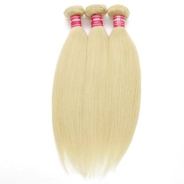 Indian Straight Hair Weave Bundles Color 613 Blonde Hair 100% Remy Human Hair Weaving 3pcs/lot Free Shippping