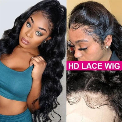 Klaiyi 5x5 Invisible HD Lace Closure Wigs 180% Density Virgin Hair Body Wave Lace Closure Wigs Melted Match All Skin