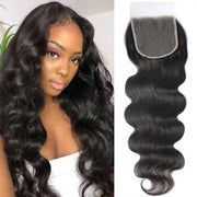 Klaiyi 4x4 / 5x5 HD Lace Tint Swiss Lace Body Wave Swiss Lace Closure