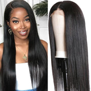 Klaiyi 13*4 Lace Front Wigs Straight Hair Wig With Pre Plucked Hairline 150% Density Youth Series