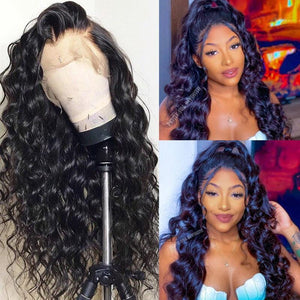 Klaiyi Hair Body Wave Wig 13*4 Lace Front Wigs 150% Density Human Hair Wigs