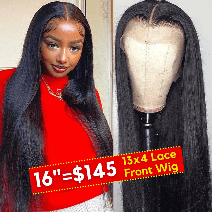 Flash Sale For 13*4 Lace Front Wigs Straight Youth Series Human Hair Wigs 150% Density