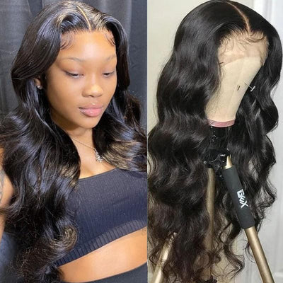 Klaiyi Body Wave HD Lace Front Wigs 13x6 Human Hair Wigs 150% Density Pre Plucked Quality Assured