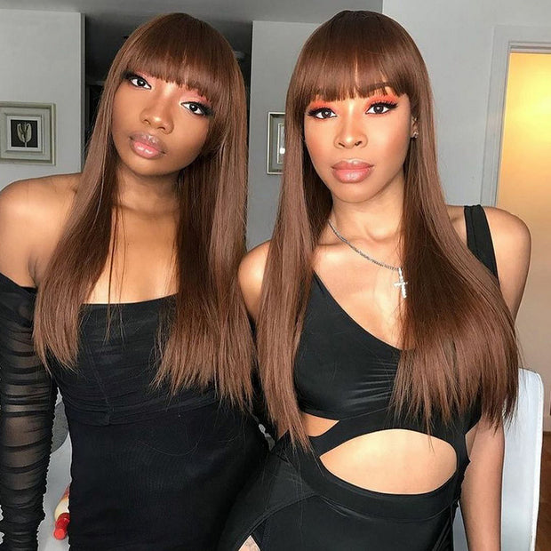 Klaiyi 5 by 5 HD Lace Closure Wig Long Straight Hair Invisible Transparent Lace Closure Wig 180% Density