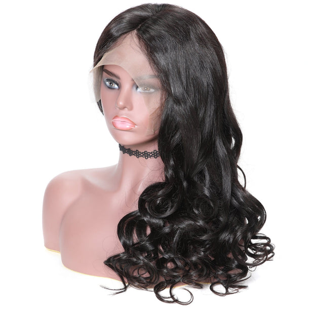360 Lace Wavy Human Hair Wig on Deals,14inch-24inch