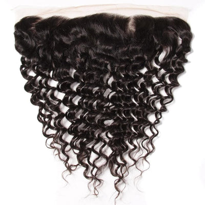 Deep Wave 13*4 Ear to Ear Lace Frontal Closure-Klaiyi Hair