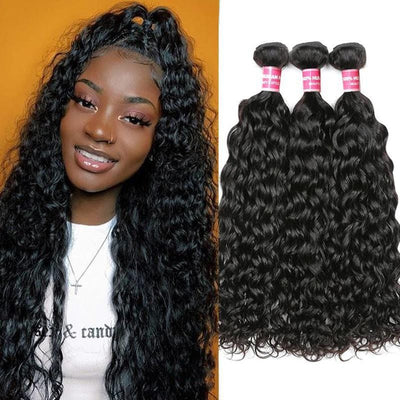 Klaiyi Hair 3 Bundles Indian Water Wave Curly Hair Deals