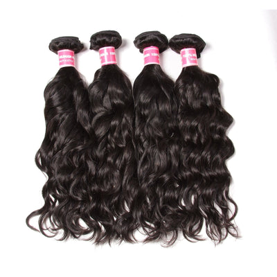Peruvian Virgin Hair Natural Wave 4 Bundles Human Hair Weaves