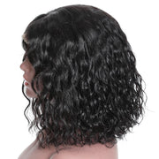 Short Water Wave Bob Curly Wig, 13*4 Lace Front Human Hair Wig, 150%/180% Density