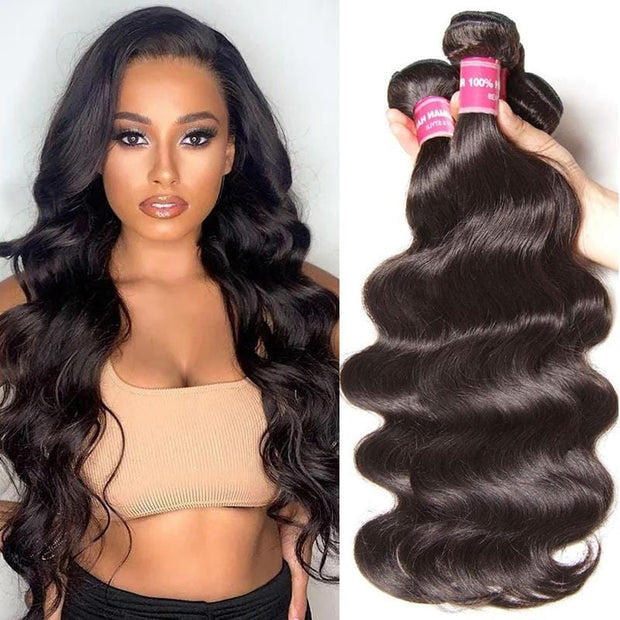 Klaiyi Brazilian Hair Body Wave Human Virgin Hair Weft 3Bundles/Pack