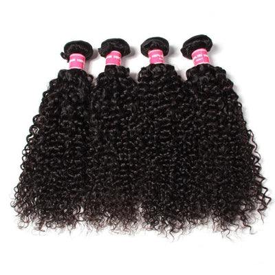 Klaiyi 4pcs/lot Indian Curly Virgin Human Hair Bundles