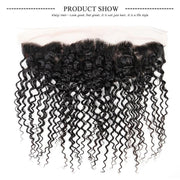4 Bundles Indian Curly Hair with Ear to Ear Lace Frontal Closure-Klaiyi Hair