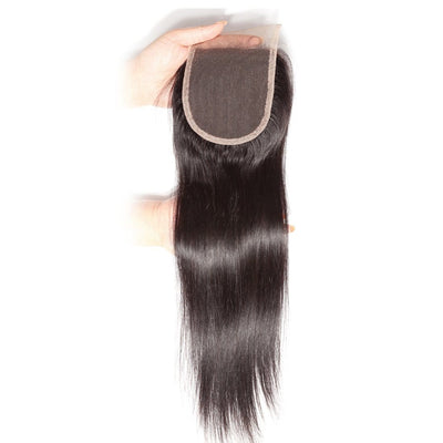 Klaiyi Hot sale Straight Hair 4x4 Lace Closure