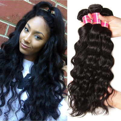 Klaiyi Hair Malaysian Natural Wave 3 Bundles, 100% Virgin Malaysian Hair Weave on Sale