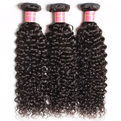 Klaiyi Hair 3pcs/lot Indian Jerry Curly Hair Human Hair Weft Deals