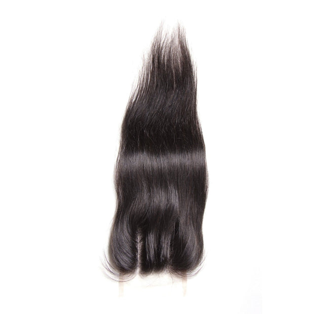 Klaiyi Hot sale Malaysian Straight Hair 4x4 Lace Closure
