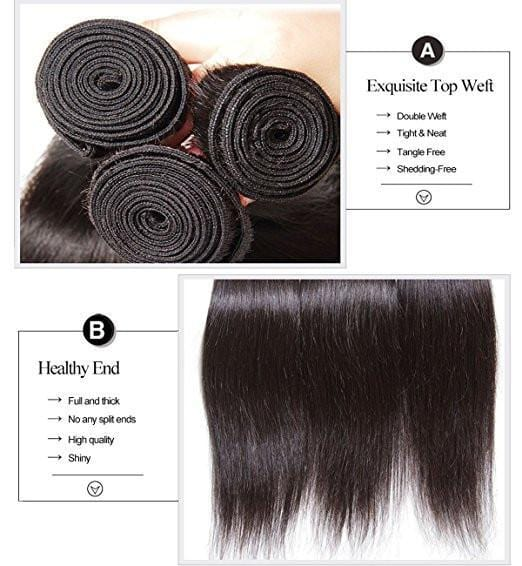 Klaiyi Malaysian Hair Unprocessed Straight Virgin Human Hair Weft 4pcs/pack