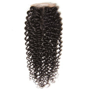 Klaiyi Peruvian Virgin Curly Hair 4x4 Lace Closure