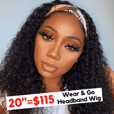 Flash Sale For Easy Wear & Go Headband Glueless Wig Thick and Full Density With Lovely Gifts!