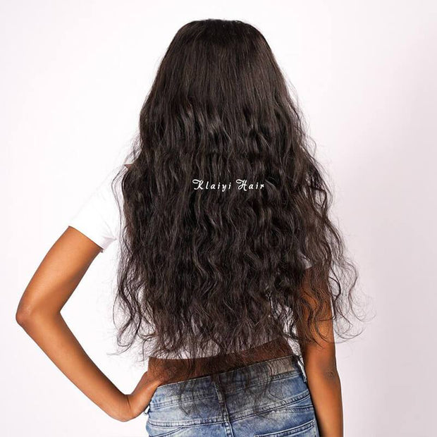 Klaiyi Body Wave Lace Frontal Closure Deals, 13*4 Ear to Ear, Free Part, 100% Virgin Human Hair