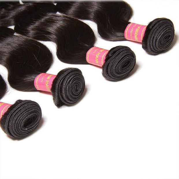 Klaiyi Hair 4Pcs/pack Peruvian Body Wave Virgin Human Hair