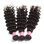 Malaysian Deep Wave Human Hair Weave 3 Bundles