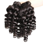 1 Bundle Remy Human Hair Funmi Curly Bundles Natural Color Loose Curly Hair