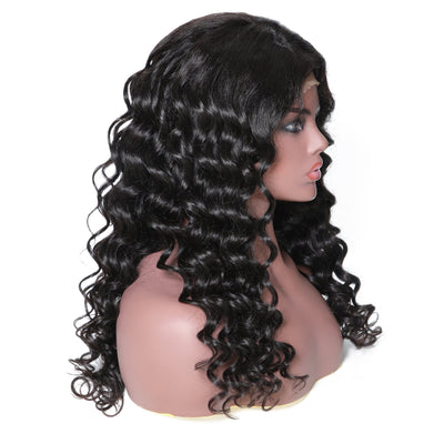 13*6 Lace Front Loose Deep Human Hair Wig 14-24inch, 150% density