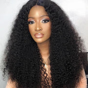Klaiyi Hair Malaysian Kinky Curly Hair 3 Pcs with 13*4 Ear to Ear Lace Frontal Closure On Deals