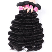 4 Bundles Loose Deep Wave Hair Weaves with 4*4 Lace Closure