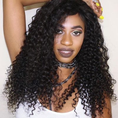 Malaysian Curly Hair 3 Bundles, 100% Virgin Human Hair Weave Extensions, No Shedding and Tangle Free