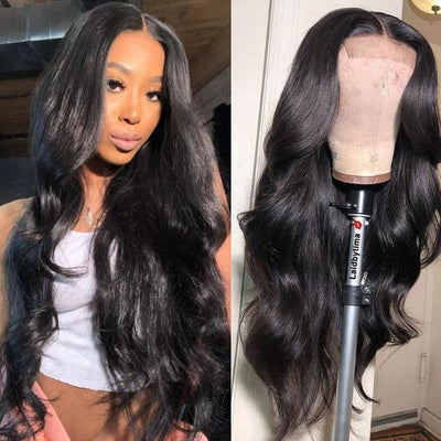 Klaiyi Youth Series 4*4 Body Wave Lace Closure Wigs 150% Density Human Hair Wig