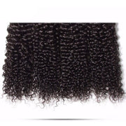 Peruvian Curly Hair 3 Bundles with Lace Frontal Closure-Klaiyi Hair