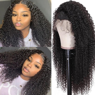Klaiyi 9A Kinky Curly Lace Human Hair Wig On Sale 10inch-24inch