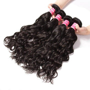 Klaiyi Brazilian Virgin Hair Natural Wave 4 Bundles Human Hair Weaves