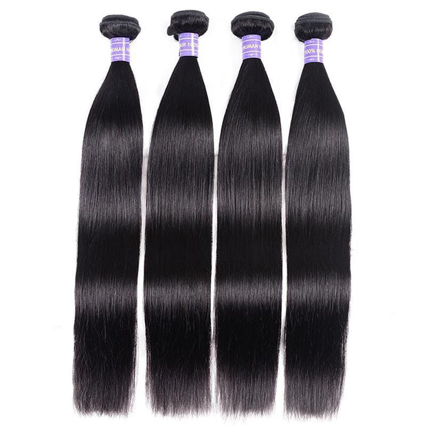 Klaiyi Youth Series Brazilian Straight Hair Bundles 4pcs/pack Human Hair Extensions Natural Color