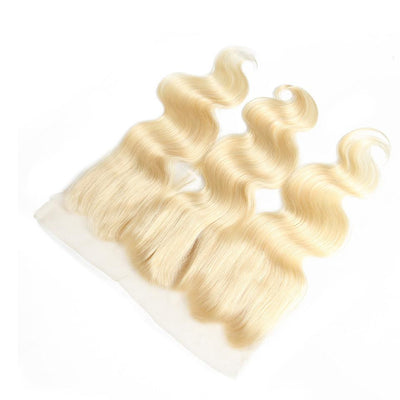 Klaiyi Hair 613 Blonde Body Wave Hair 13*4 Lace Closure, 100% Human Hair On Deals