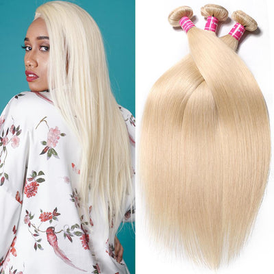 Peruvian Straight Hair Weave Bundles Color 613 Blonde Hair 100% Remy Human Hair Weaving 3pcs/lot Free Shippping