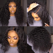 Klaiyi Hair 9A Brazilian Curly Hair Invisible Lace Frontal Wigs 13x6 13x4 Human Hair Wig with Baby Hair